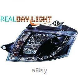 Pour Audi Tt Coupé Cabrio 98-06 LHD Projecteur LED DRL Phare Paire Transparent