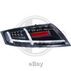 Pour Audi Tt Coupé Cabriolet 06 et Plus Feux Arrière Paire Set LED Noir