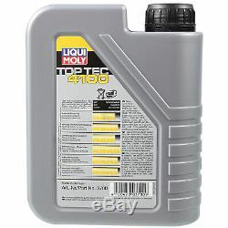 Révision Filtre Liqui Moly Huile 7L 5W-40 pour Audi Cabriolet 8G7 B4 2.6 2.0