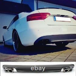 S5 Optique ABS Diffuseur pour Audi A5 Coupé Sportback Cabrio 2012-16 Avec Double