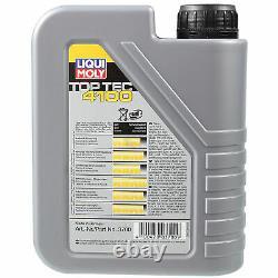 Sketch D'Inspection Filtre Huile Liqui Moly 6L 5W-40 pour Audi Cabriolet 8G7 B4