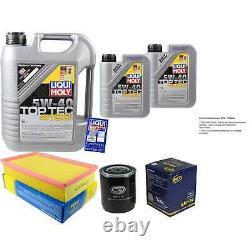 Sketch D'Inspection Filtre Huile Liqui Moly 7L 5W-40 pour Audi Cabriolet 8G7 B4