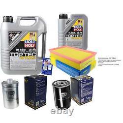 Sketch D'Inspection Filtre Liqui Moly Huile 6L 5W-40 pour Audi Cabriolet 8G7