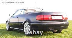 Système Complet de Kat Audi 80/90 89 B3 B4 Soude Coupé Cabriolet 2x76 Rond Fort