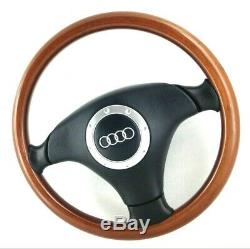 Véritable Nardi Audi Bois Et Cuir Direction Roue 80 A4 A3 VW Golf MK3 Etc 16B